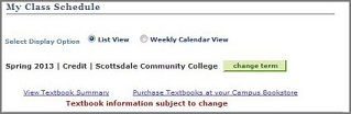 View your Textbook Summary from the My Class Schedule page