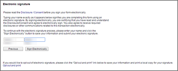 Electronic Signature screenshot