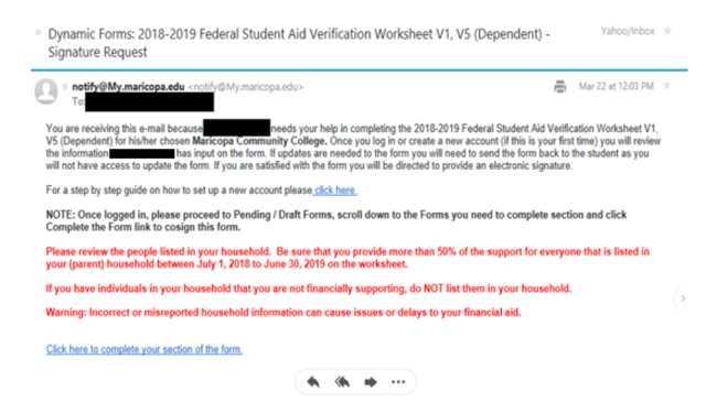 Financial Aid Verification Support | Maricopa Community Colleges
